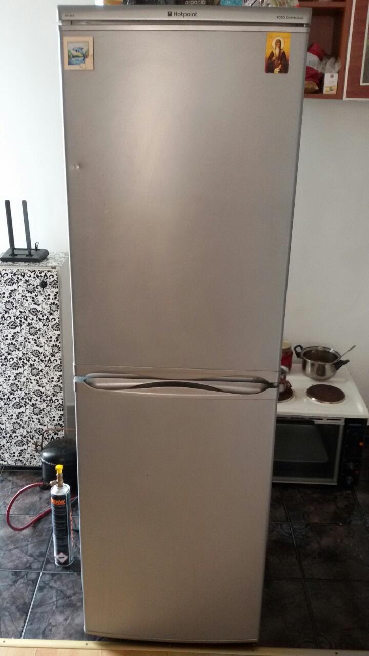 Ремонт на хладилник Hotpoint-монтаж на изпарител на еднокомпресорен хладилник_2