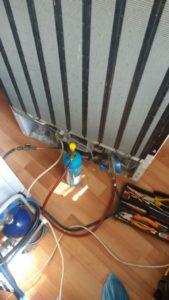 Ремонт на хладилник Candy.Отстраняване на пропуск и зареждане с фреон R134a